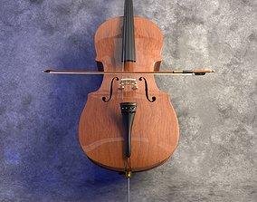 3D model Realistic Cello PBR