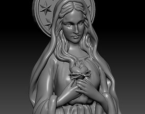 Virgin Mary Half body 3D print model