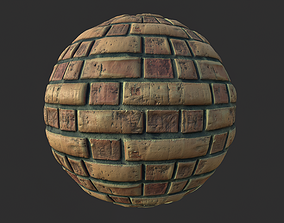 3D Brick Wall 001 Tileable Material