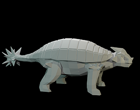 3D model Low-Poly Ankylosaurus