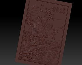 mountains and rivers 3d model of bas-relief for cnc