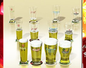 3D Beer Glass Collection