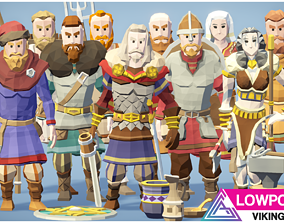 LOWPOLY - Vikings 3D model