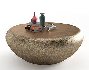 Goa Cocktail Table Antique Brass 3D model