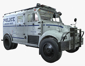 SWAT Truck 3d Vehicle Game Ready game-ready