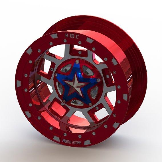 Cast rim XD-XS827 R3 - size 16x7 - Captain America edition