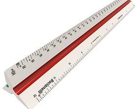 3D model Architect ruler