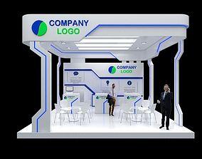 Modern Booth Minimalis 6x6 3D model