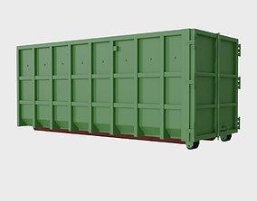 3D asset Steel dumpster 32 cubic meters
