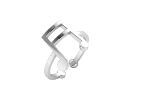 Minimalistic simple musical note ring 3D printable model