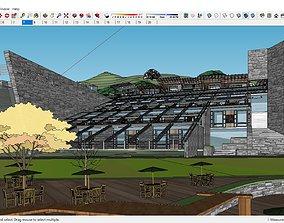 3D model Sketchup Recreational hotel complex B10