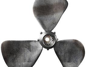 3D asset Propeller plane 3
