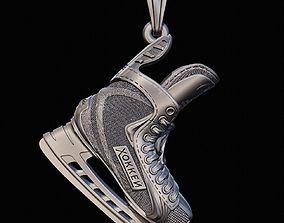 3D print model sport Hokkey Skate pendant