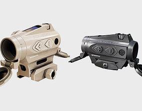 3D asset Sig Sauer Romeo4T Tactical Solar Powered Red Dot