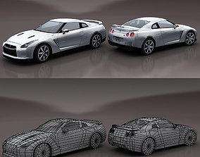 Nissan GTR 3D asset VR / AR ready
