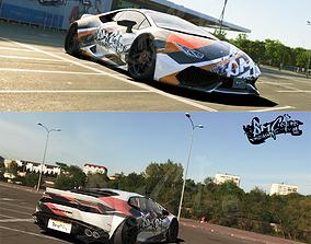 3D Lamborghini Huracan race