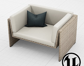 3D asset Dedon Slimline Chair 001 UE4