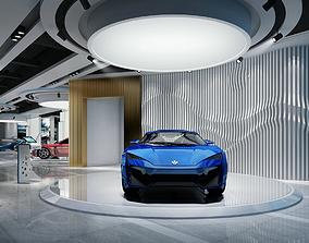 Model of automobile exhibition hall 3D asset