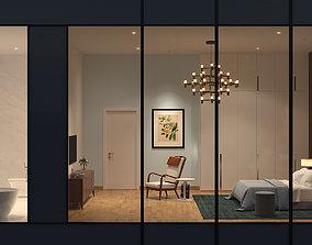 3D model living Bedroom