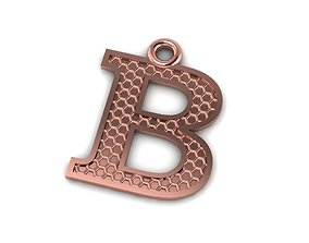 3D print model Alphabets Letter B Pendant