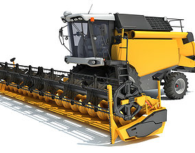 Combine Harvester 3D wheat