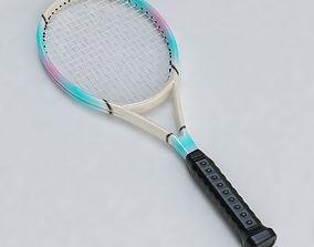 3D asset Tennis Racket 01
