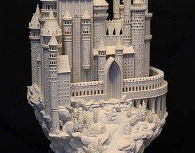 3D asset VR / AR ready Medieval castle architecture