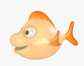 3D asset Cute Fish