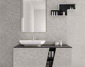 3D Bathroom furniture set Arcom eLy 2