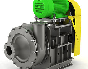 3D model Pump centrifugal industrial