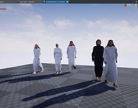 3D asset UAE Crowd Follow Path