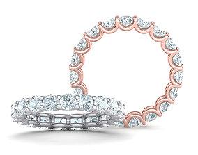 Diamond Eternity Ring 3d model version3
