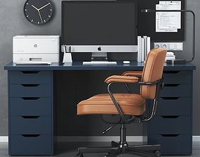 IKEA office workplace with ALEX table and 3D model 1
