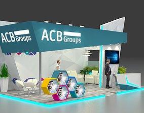 3D Exhibition Stand 8 x 5 x 4m