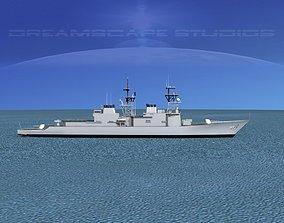 3D model Spruance Class DD977 USS Briscoe