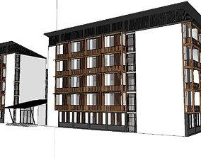 3D model Office-Teaching Building-Canteen 34