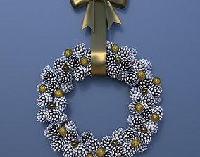 crown Christmas Wreath 3D model