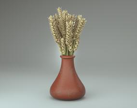 3D Wheat in pot