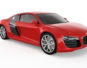 speed Audi R8 3D Sports Car Luxury vehicle 3D Model