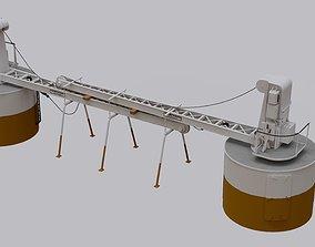 3D Titanic Electric Cranes