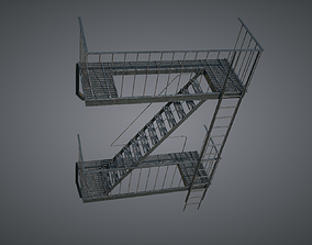 Fire Stairscase 3D model