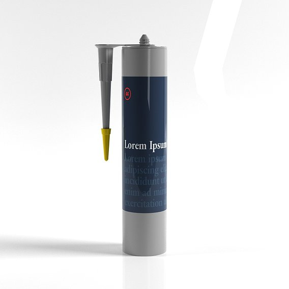Sealant cartridge open mockup 3D