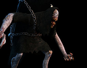 3D asset Creature Monster Animated Faceless
