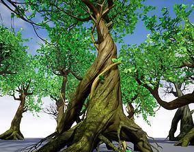 3D asset Modular Trees Pack - game models