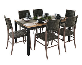 3D Crate and Barrel Dining Table