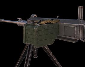 3D asset game-ready Machine Gun assault