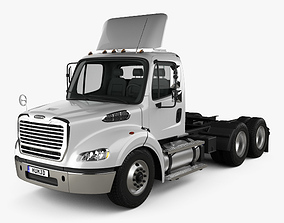 3D model Freightliner M2 112 Day Cab Tractor Truck 3-axle