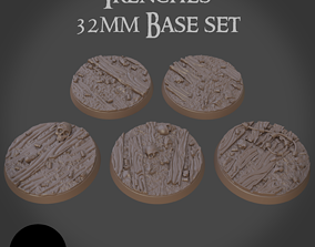 3D printable model 32mm trench base set Pre-supported