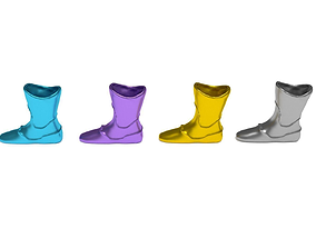 Colored Boot Vase Package for 3D Print and Architecture