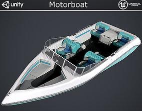 3D asset Motorboat
